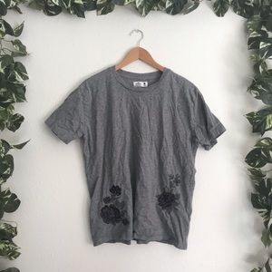 🆕Hollister Embroidered T-shirt Grey